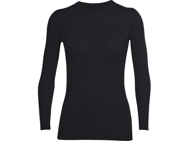 Icebreaker Sprite Longsleeve Crew Sweater Women, negro